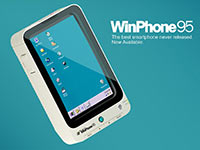 Концепт смартфона WinPhone 95 на базе Windows 95