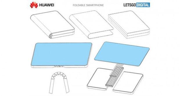 У Huawei тоже есть патент на смартфон со сгибающимся дисплеем
