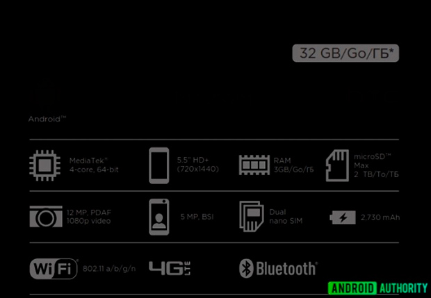 Готовится квыпуску бюджетный HTC Desire 12 сHD+ дисплеем и4G