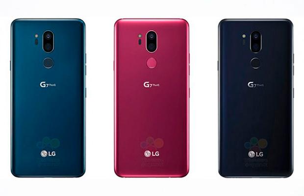 Накануне до анонсаLG G7 ThinQ показался втрёх расцветках