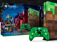 Microsoft выпустила приставку Xbox One S Minecraft Limited Edition