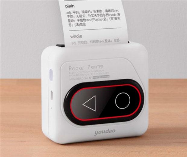 Xiaomi выпустила чёрно-белый карманный принтер Youdao Memobird G4 за42 доллара