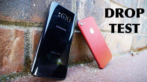 Galaxy S8 оказался прочнее iPhone 7