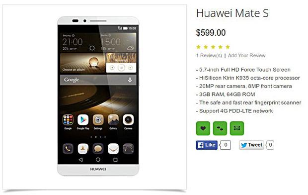 В сеть попало несколько «живых» фотографий Huawei Mate S