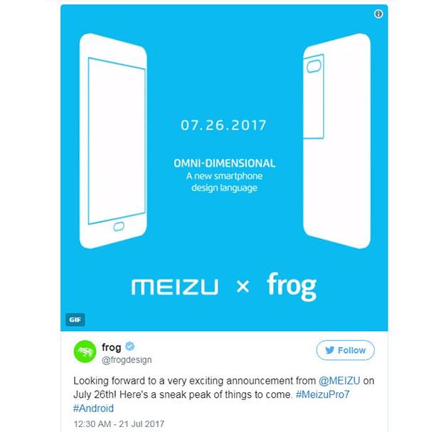 Дизайн и характеристики Meizu Pro 7 раскрыты накануне презентации