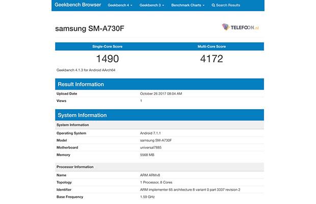 Новые детали о телефоне Самсунг Galaxy A7 (2018) появились вweb-сети интернет