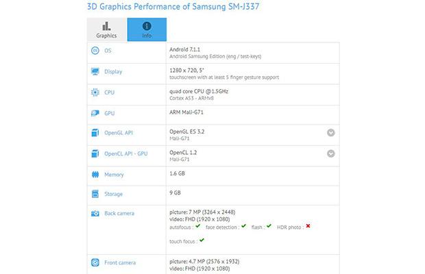 Galaxy J3 (2018) получит новый процессор