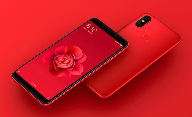Вглобальной сети размещены изображения Xiaomi Mi6X вкрасном цвете