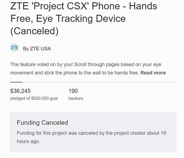 Вкомпании ZTE закончили собирать деньги налипкий смартфон Hawkeye