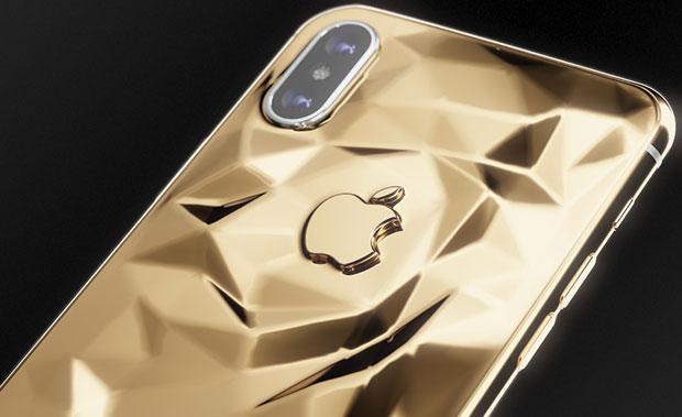 Caviar выпустила две версии iPhone X из золота 999-ой пробы