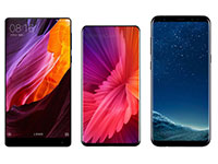 Сравнение дизайна Xiaomi Mi Mix 2, Mi Mix и Samsung Galaxy S8 Plus