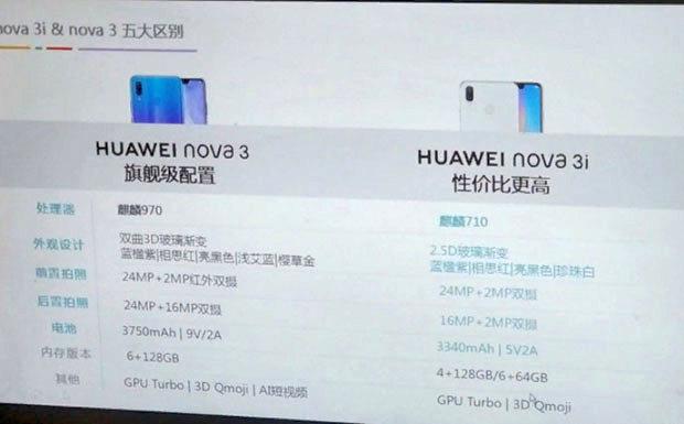 Huawei Nova 3i получит чип Kirin 710 и 4 камеры