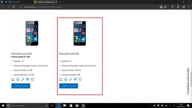 Насайте Microsoft отыскали Lumia 651