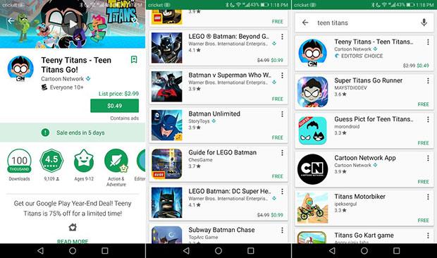 Google Play будет уведомлять пользователей оскидках прямо в дополнении