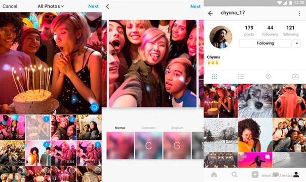 В Instagram появилась функция публикации 10 фото в одном посте