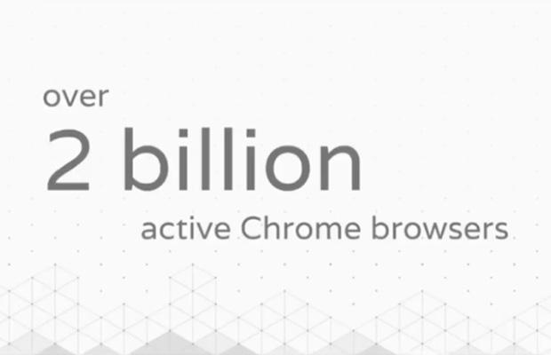 Браузер Google Chrome применяется на2 млрд устройств
