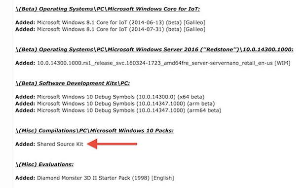 Исходный код Windows 10 утёк в Сеть