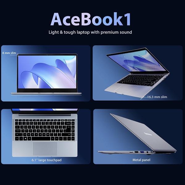 Blackview выпустила свой первый ноутбук Acebook1