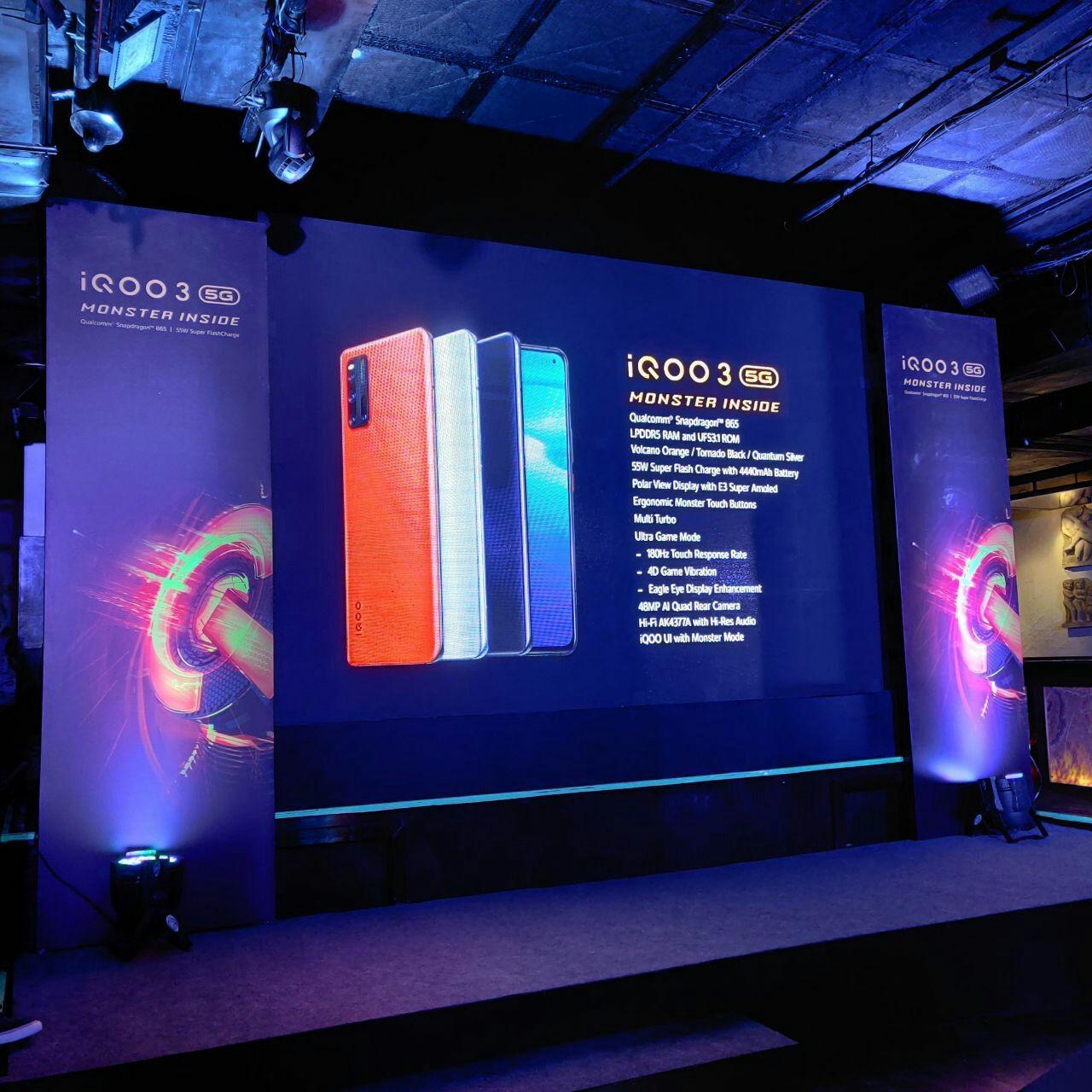 Стали известны основные характеристики игрового смартфона Vivo iQOO 3 5G