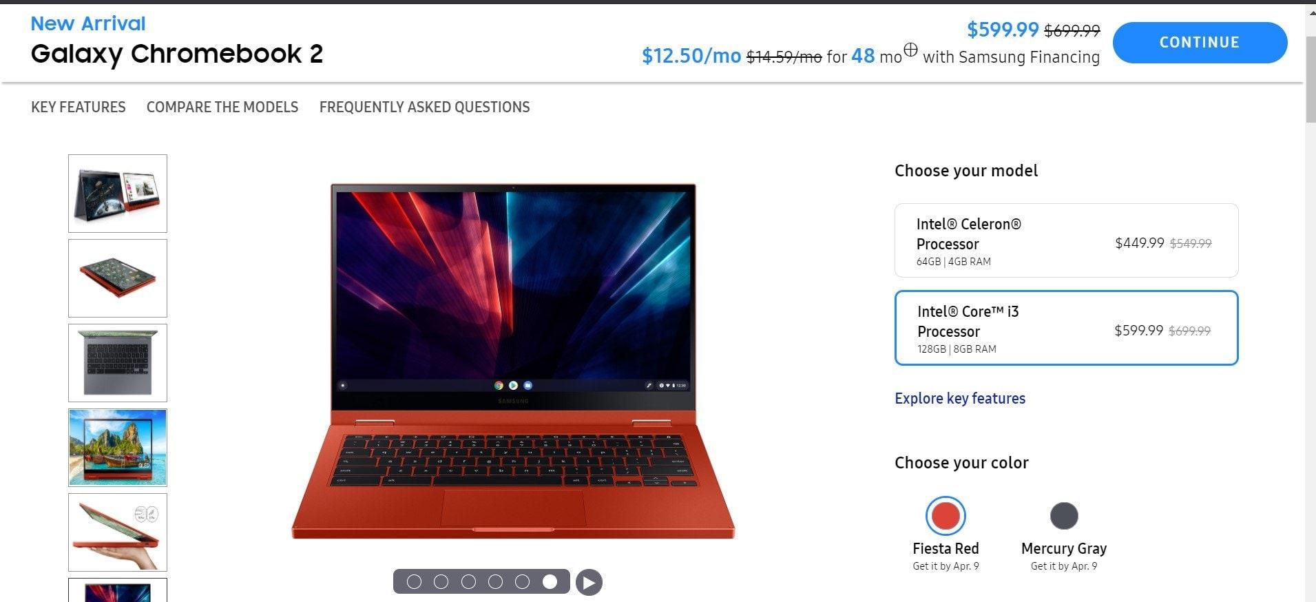 Samsung Galaxy Chromebook 2 упал в цене всего через месяц после выпуска