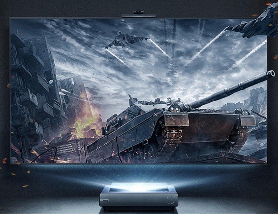 Представлен лазерный телевизор Hisense L9F, оснащенный камерой с искусственным интеллектом