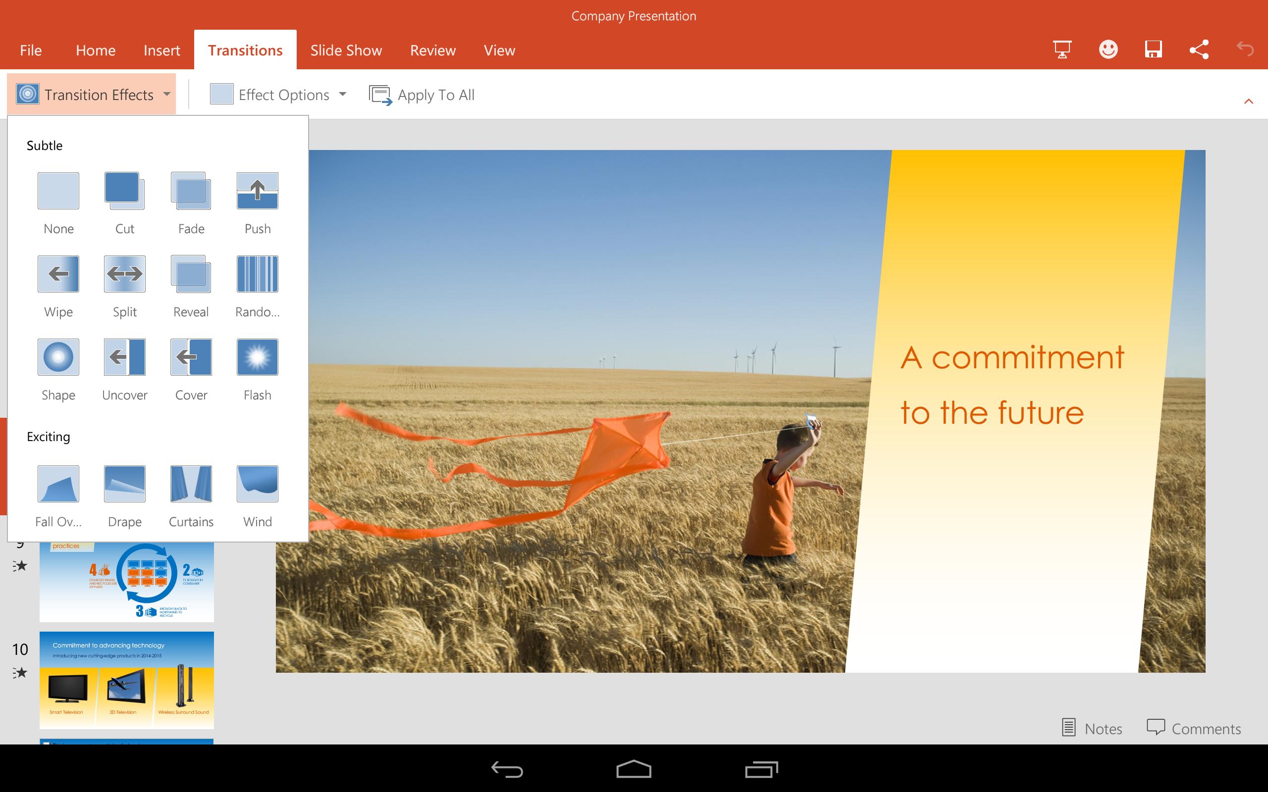 Безопасность доступа в Интернет. И не только... PowerPoint-for-Android-Preview-3