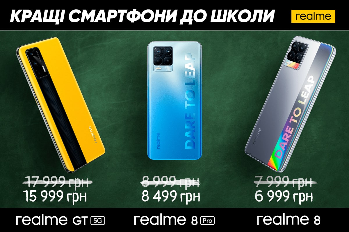 Лучшие смартфоны для школьника от Realme