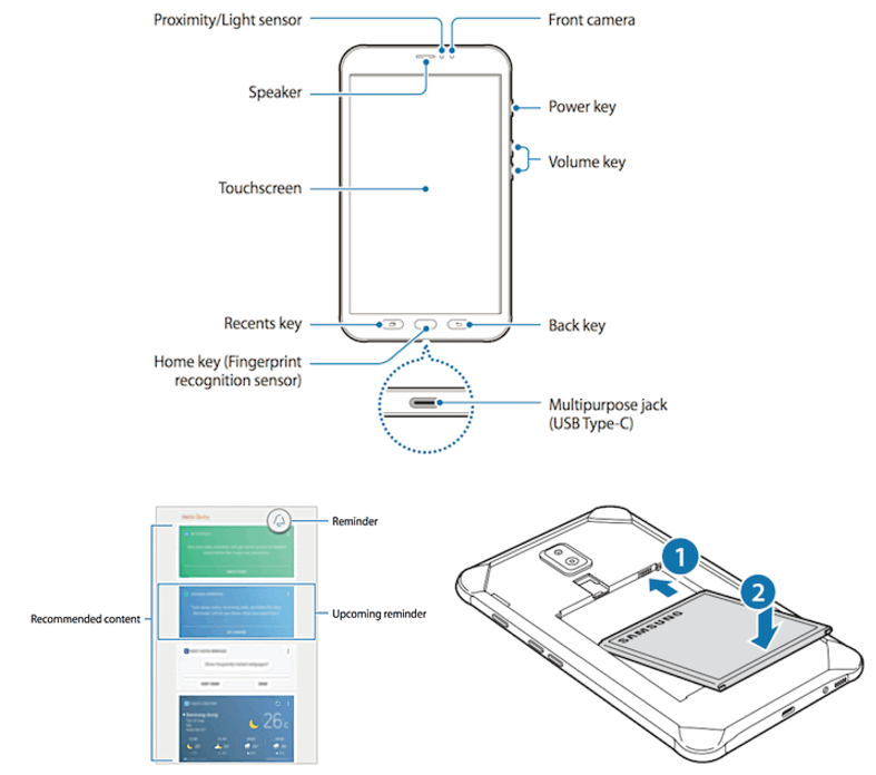 Защищенный планшет Самсунг Galaxy Tab Active 2 показался нарендерах
