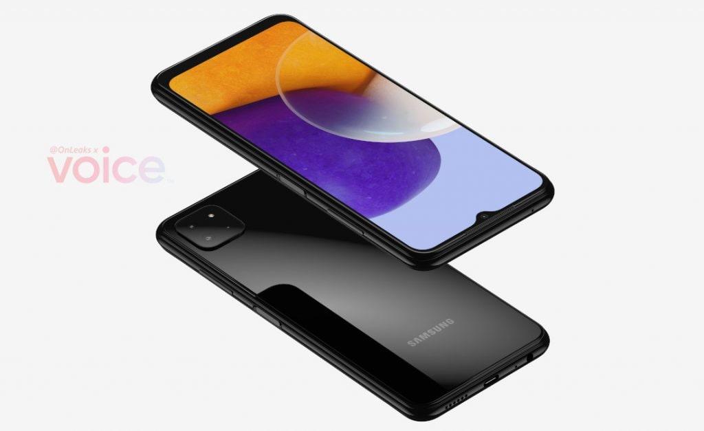 Опубликованные рендеры Samsung Galaxy A22 5G показали смартфон со всех сторон