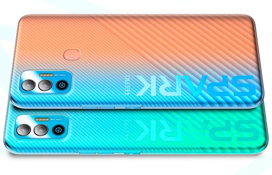 Представлен бюджетный смартфон Tecno Spark 7T с аккумулятором на 6000 мАч