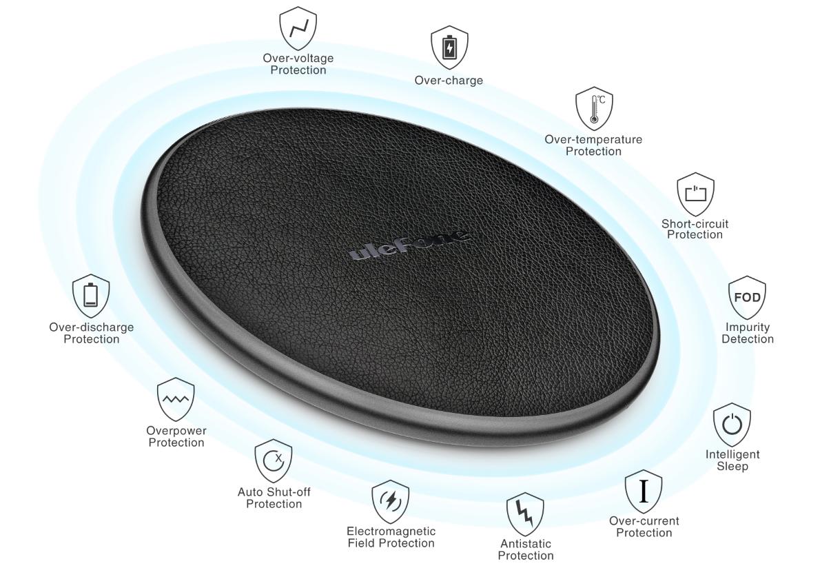 Ulefone выпустила беспроводную зарядную станцию UF002 мощностью 10 Вт