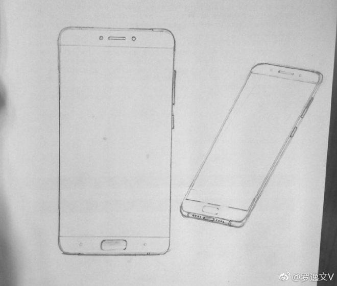 Эскизы Android-смартфона Xiaomi Mi6