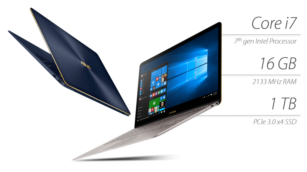 CES 2017. 14-дюймовый ультрабук ASUS ZenBook 3 Deluxe валюминиевом корпусе