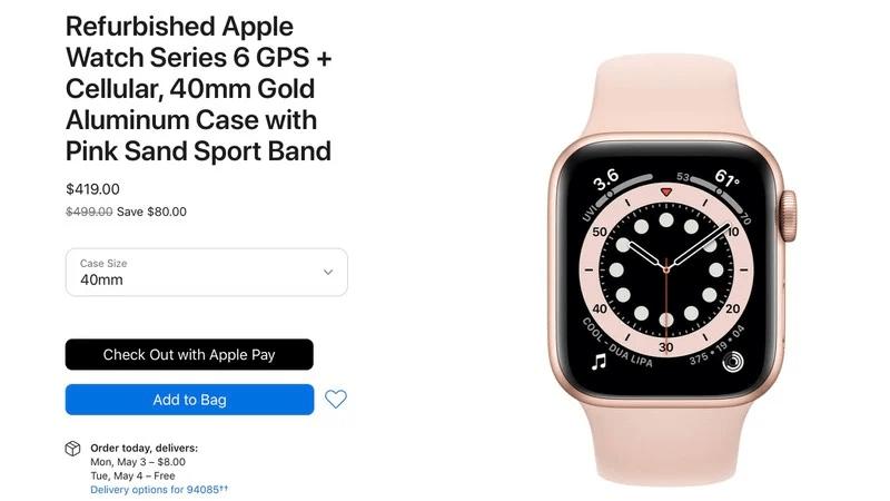 Apple начала продавать восстановленные Apple Watch Series 6 и Apple Watch SE