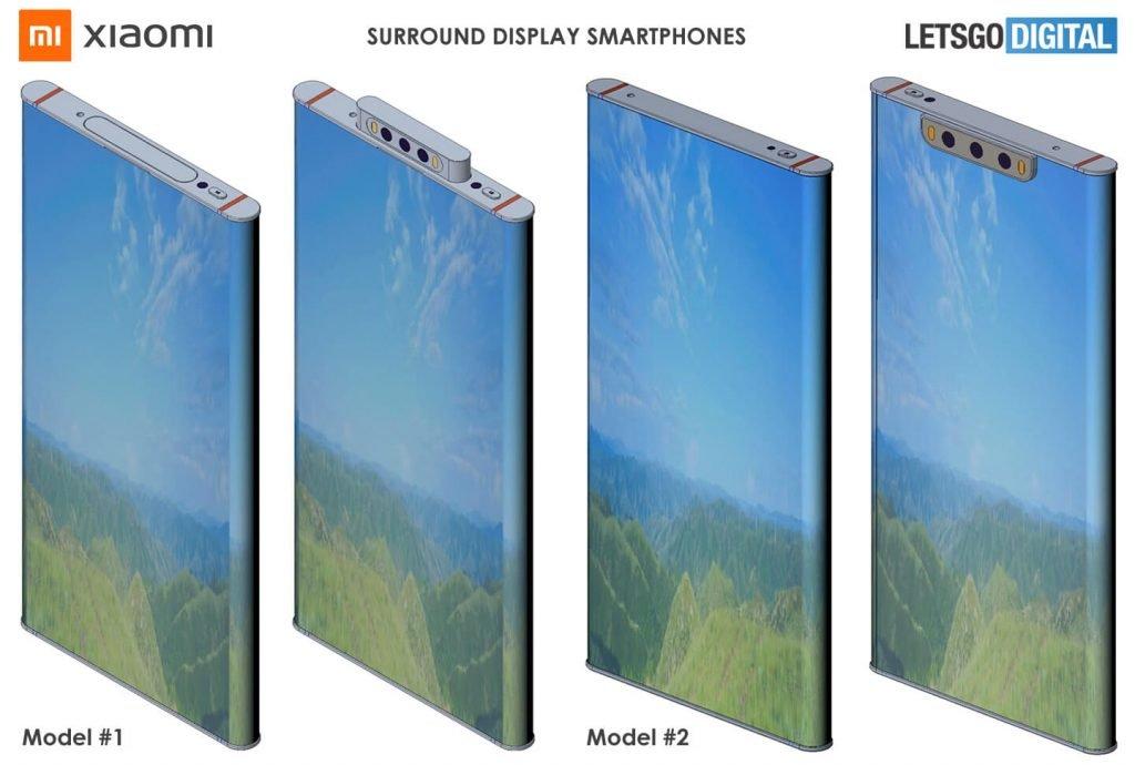 Xiaomi запатентовала смартфон с 360-градусным экраном
