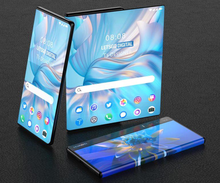 Huawei запатентовала футуристический смартфон с выдвижным экраном
