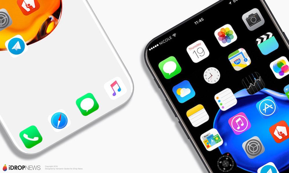 Дизайнеры показали собственный вариант внешнего облика iPhone 8