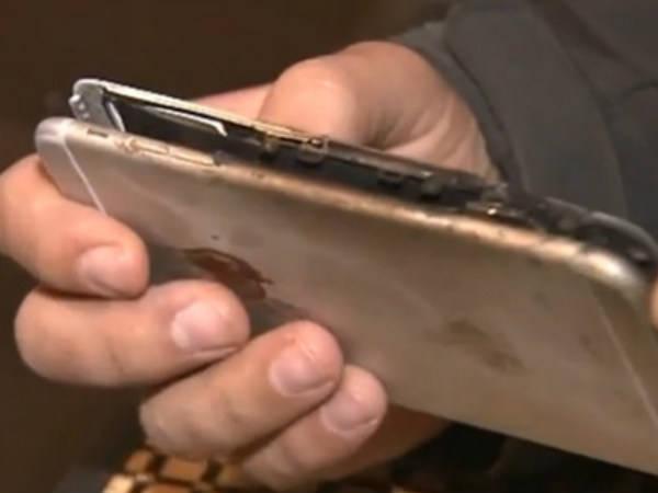 ВСША впроцессе зарядки зажегся iPhone 6 Plus