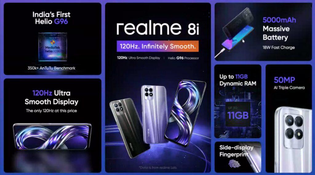 Смартфон Realme 8i представлен официально