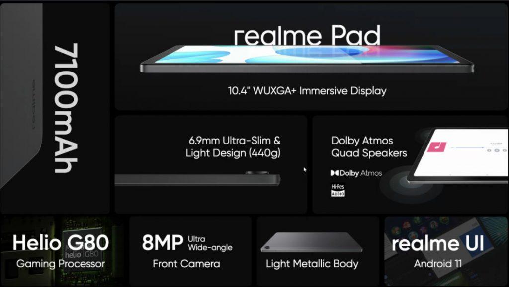 Realme выпустила свой первый бюджетный планшет Realme Pad