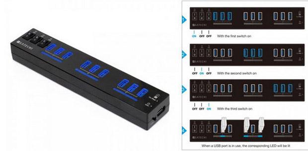 Satechi 10-Port USB 3.0 Hub — «монстр» среди USB-хабов: http://ilenta.com/accessories/accessories_213.html