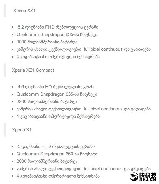 Компания Sony остановила продажи Xperia X и X Compact