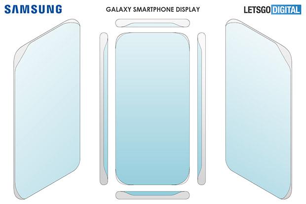 Samsung запатентовала смартфон с дисплеем, изогнутым со всех сторон