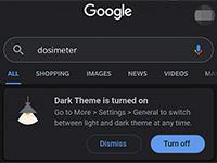 Поисковик Google получил темную тему в версии для ПК